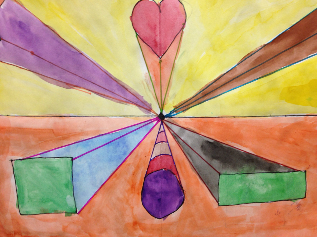 Third Grade 3D shapes - Mrs. Dentzer's Art Room