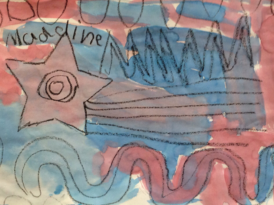 Different Types Of Lines In Art Drawing : Constitution day line art by kindergarten mrs dentzer s room